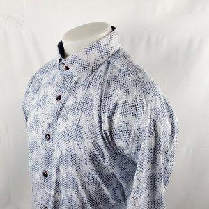 Bespoke Brand Mens Button Front Shirt Sz 2XL White